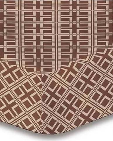Prostěradlo z mikrovlákna DecoKing Hypnosis Triangles Belinda, 90x200cm
