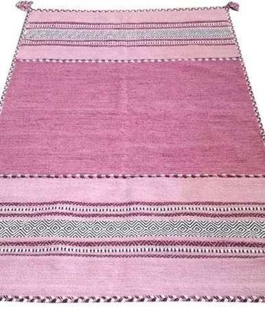 Růžový bavlněný koberec Webtappeti Antique Kilim, 70 x 140 cm