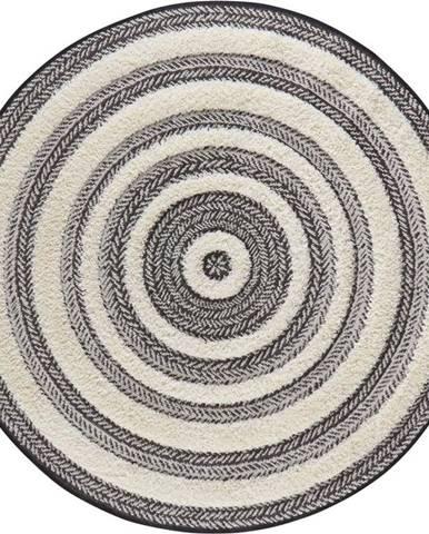 Šedo-bílý koberec Mint Rugs Handira Circle,⌀160cm
