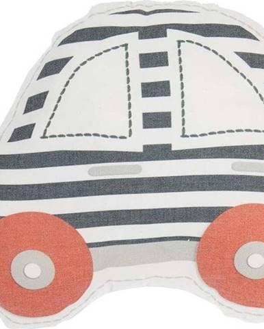 Šedo-červený dětský polštářek s příměsí bavlny Mike&Co.NEWYORK Pillow Toy Car, 32 x 25 cm
