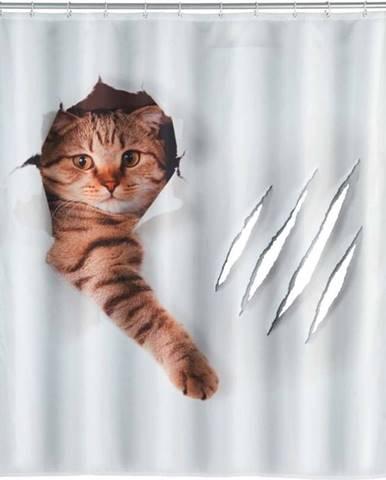 Sprchový závěs Wenko Cat, 180x200cm