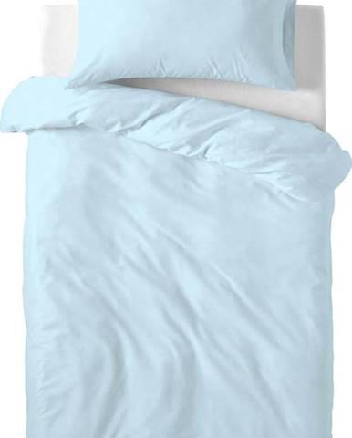 Světle modré dětské bavlněné povlečení Happy Friday Basic, 115x145cm