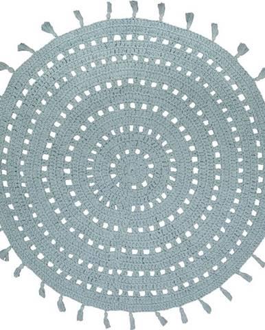 Zelený bavlněný ručně vyrobený koberec Nattiot,ø120cm