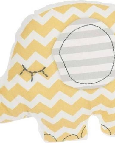 Žlutý dětský polštářek s příměsí bavlny Mike&Co.NEWYORK Pillow Toy Elephant, 34 x 24 cm