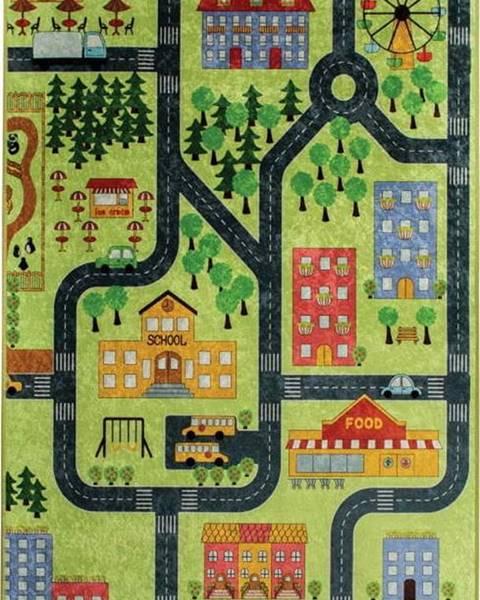 Bonami Dětský koberec Green Small Town 140x190cm