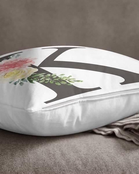 Minimalist Cushion Covers Povlak na polštář Minimalist Cushion Covers Floral Alphabet K, 45 x 45 cm