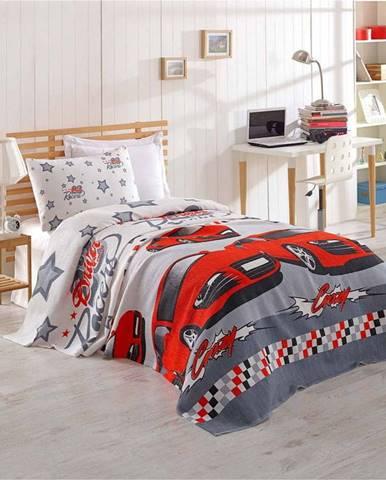 Dětský bavlněný přehoz přes postel Eponj Home Cars, 160 x 235 cm