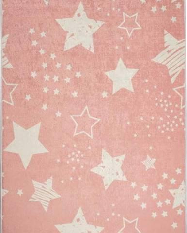 Dětský koberec Pink Stars, 140x190cm