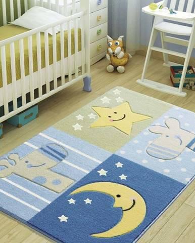 Dětský modrý koberec Confetti Sleepy,100x150cm