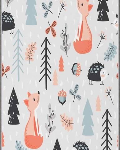Dětský protiskluzový koberec Homefesto Forest,80x120cm