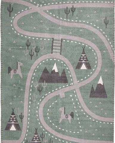 Dětský ručně potištěný koberec Nattiot Little Western, 100x140cm