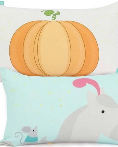 Oboustranný bavlněný povlak na polštář Mr. Fox Pumpkin, 50x30cm