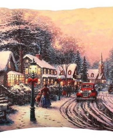 Polštář Christmas Road In A Village, 43x48 cm
