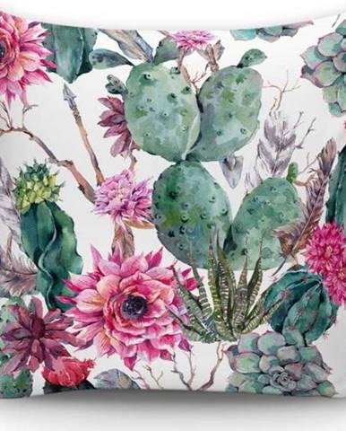 Povlak na polštář Minimalist Cushion Covers Cactus And Roses, 45x45cm