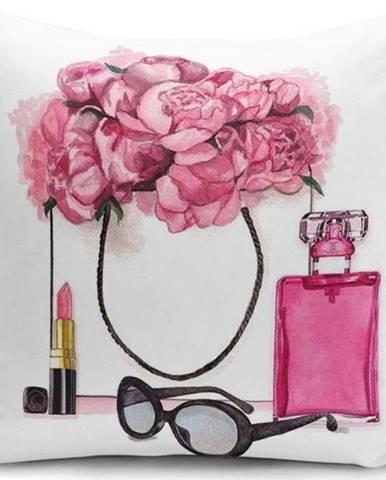 Povlak na polštář Minimalist Cushion Covers Pink Flowers and Perfume, 45 x 45 cm