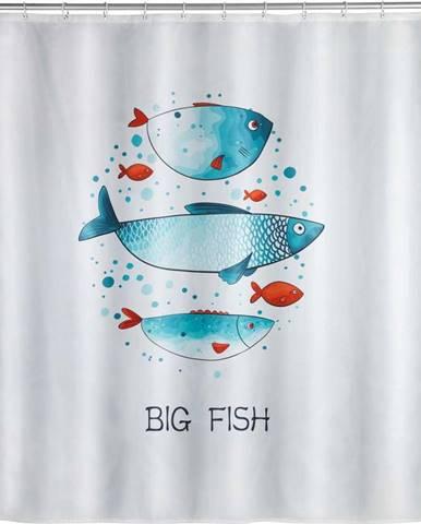 Pratelný sprchový závěs Wenko Big Fish, 180x200cm