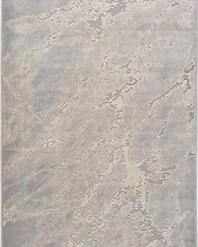 Šedo-béžový koberec z viskózy Universal Margot Marble, 60 x 110 cm