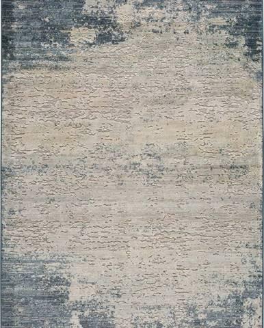 Šedo-modrý koberec Universal Farashe Abstract, 120 x 170 cm