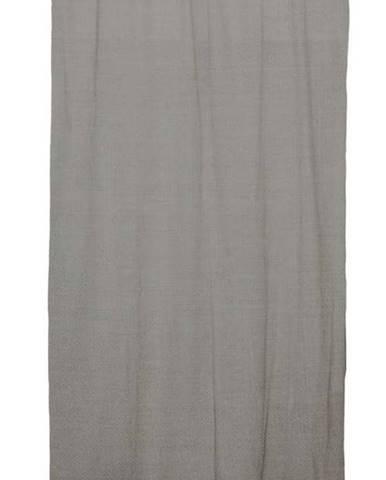 Šedý závěs Linen Cuture Cortina Hogar Cool Grey