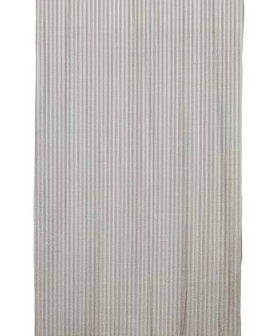 Šedý závěs Linen Cuture Cortina Hogar Grey Marine Stripes