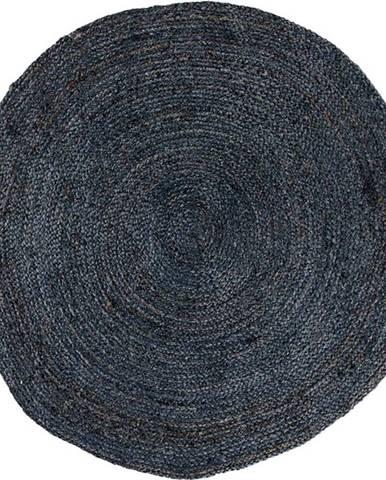 Tmavě šedý kulatý koberec House Nordic Bombay, ø180cm