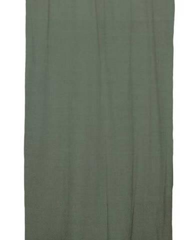 Zelený závěs Linen Cuture Cortina Hogar Green