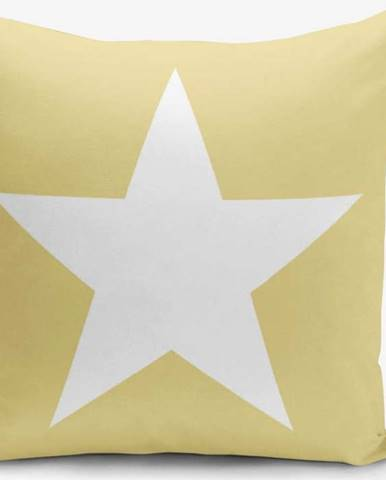 Žlutý povlak na polštář Minimalist Cushion Covers Stars, 45 x 45 cm
