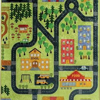 Dětský koberec Green Small Town 140x190cm