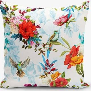 Povlak na polštář s příměsí bavlny Minimalist Cushion Covers Ethnic Bird, 45 x 45 cm