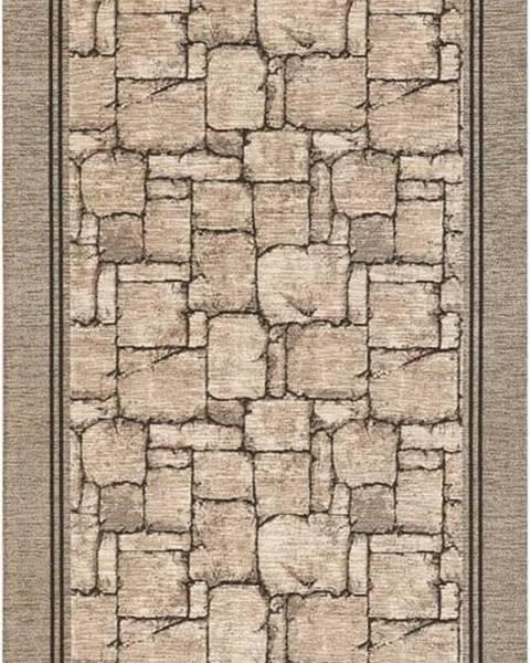 Floorita Béžový běhoun Floorita Wall, 55 x 115 cm