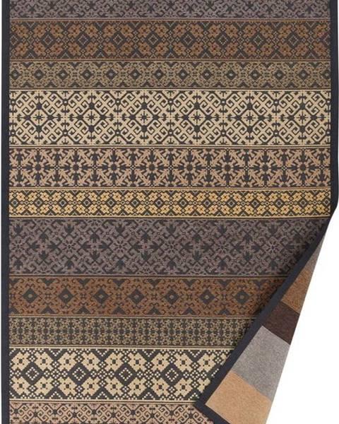 Narma Béžový vzorovaný oboustranný koberec Narma Tidriku, 70 x 140cm