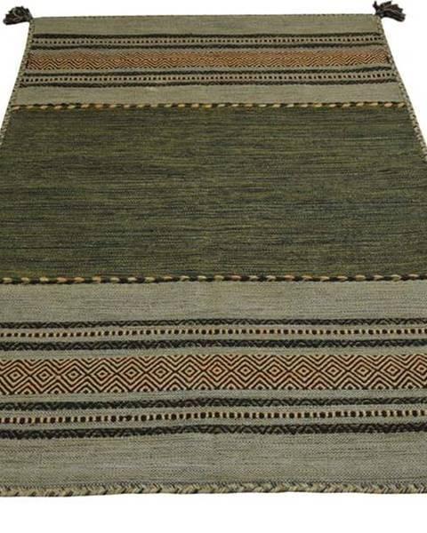 Webtappeti Zelený bavlněný koberec Webtappeti Antique Kilim, 60 x 90 cm
