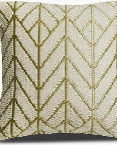 Béžovo-zlatý polštář z recyklovaného plastu Fab Hab Sydney, 42 x 42 cm