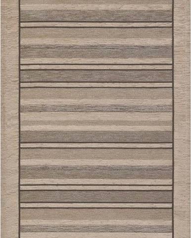 Béžový běhoun Floorita Velour, 55 x 190 cm