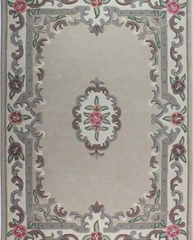 Béžový vlněný koberec Flair Rugs Aubusson, 120x180cm