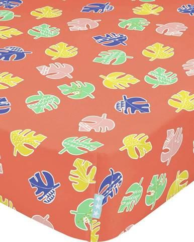 Dětské bavlněné prostěradlo Moshi Moshi Geo Jungle,70x140cm