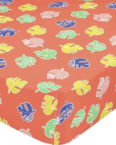 Dětské bavlněné prostěradlo Moshi Moshi Geo Jungle,90x200cm