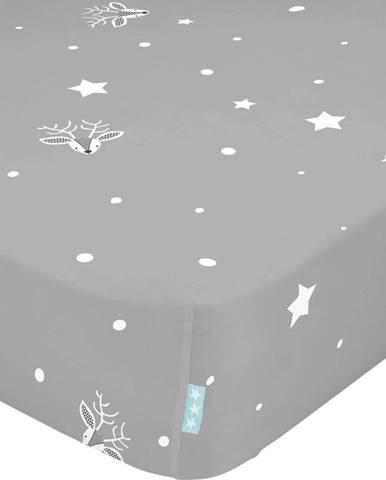 Dětské bavlněné prostěradlo Moshi Moshi Winter,60x120cm