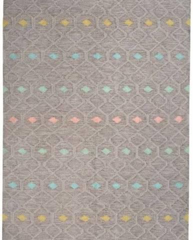 Dětský koberec z recyklovaného polyesteru vhodný do exteriéru Nattiot Dristy,70x170cm
