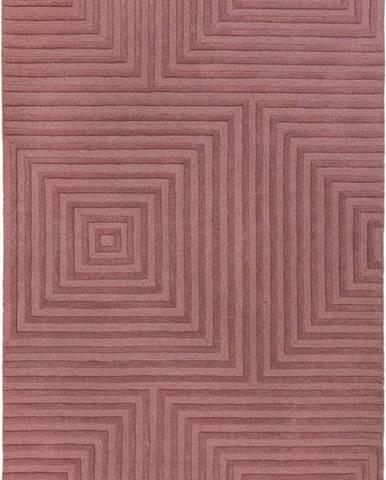 Fialový vlněný koberec Flair Rugs Estela, 160 x 230 cm