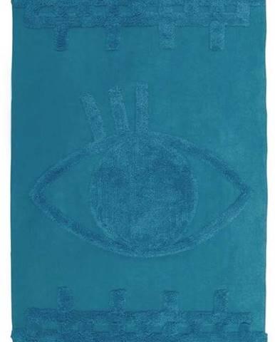 Modrý bavlněný nástěnný koberec Nattiot Siva,70x120cm