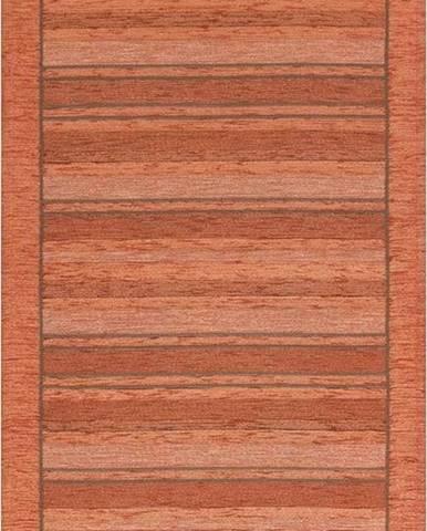 Oranžový běhoun Floorita Velour, 55 x 190 cm