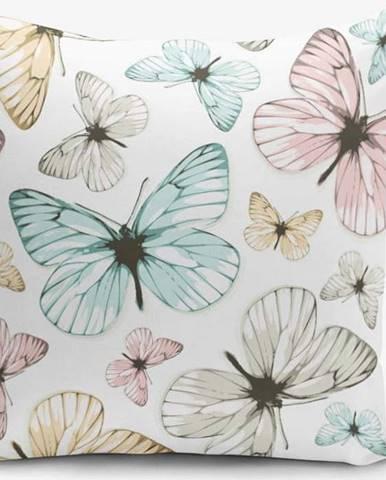 Povlak na polštář s příměsí bavlny Minimalist Cushion Covers Butterfly, 45 x 45 cm