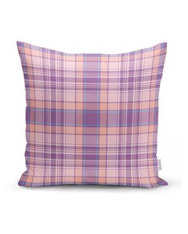 Růžovo-fialový dekorativní povlak na polštář Minimalist Cushion Covers Flannel,35x55cm