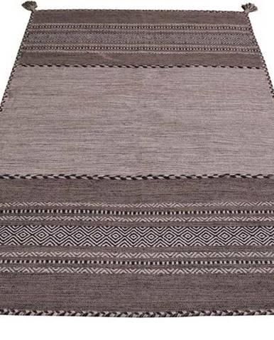 Šedo-béžový bavlněný koberec Webtappeti Antique Kilim, 60 x 90 cm
