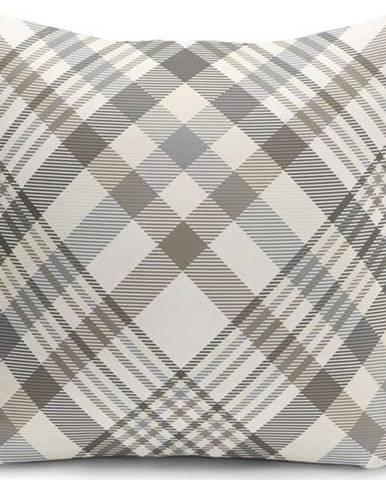 Šedo-béžový dekorativní povlak na polštář Minimalist Cushion Covers Flannel,45x45cm
