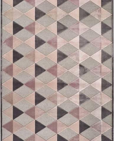 Šedo-růžový koberec Universal Farashe Triangle, 140 x 200 cm