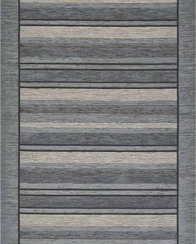 Šedý běhoun Floorita Velour, 55 x 240 cm