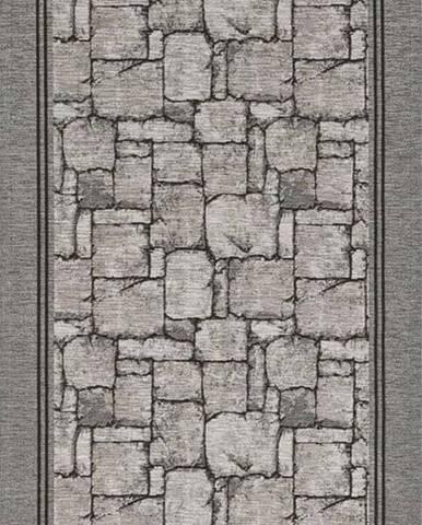 Šedý běhoun Floorita Wall, 55 x 190 cm
