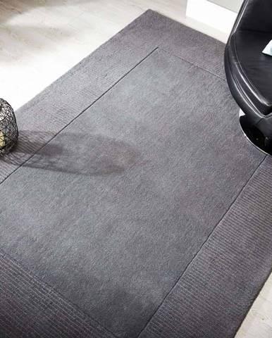 Šedý vlněný koberec Flair Rugs Siena, 160 x 230 cm